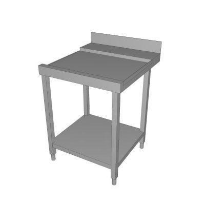 Izlazni stol za perilicu sa zaštitom zida i donjom policom - desni