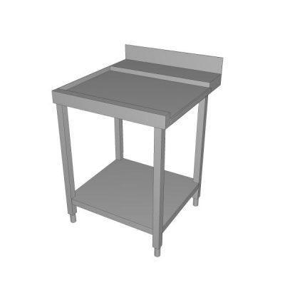 Izlazni stol za perilicu sa zaštitom zida i donjom policom - lijevi