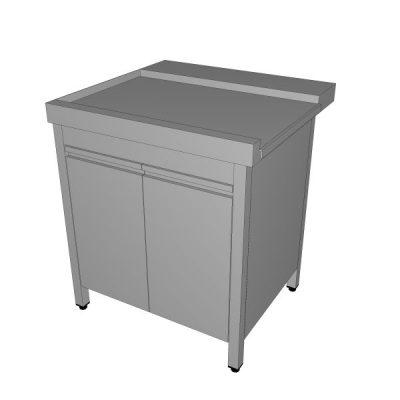 Izlazni zatvoreni stol za perilicu s krilnim vratima
